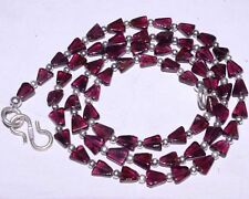 (eVB1047) Garnet Natural Gemstone Beads  Necklace