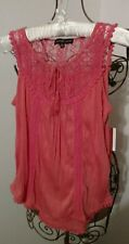 Almost Famous Coral Top ~ Size S ~ Nwt Retails $30.