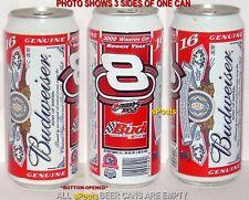 NASCAR BUD #8 DALE JR PINT BEER CAN BUDWEISER SPORT TEXAS SPEEDWAY WINSTON CUP