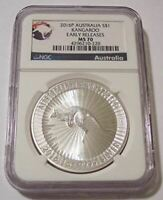 Australia 2016 P 1 oz Silver Dollar Kangaroo MS70 NGC Early Releases