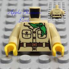 NEW Lego Female TAN MINIFIG TORSO Safari Explorer Ranger Girl Khaki Jacket Shirt