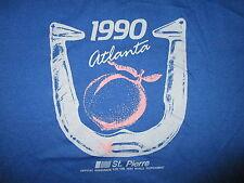 vtg 80s 90s WORLD HORSESHOE TOURNAMENT T SHIRT St Pierre 1990 Atlanta Champion