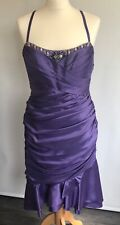 MASCARA Mother of The Bride Wedding Guest Dress Cocktail Party Purple Size UK12