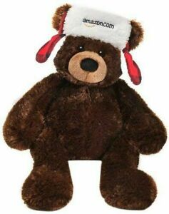 """Gund 2013 Exclusive Holiday Collectible 18"""" Plush Bear w/ Red Plaid Hat NEW NWT"""