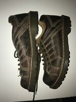 Dr. Martens Keith Air Wair 6 Eye Lace Up No Slip Stitched Mens Size 11 Brown