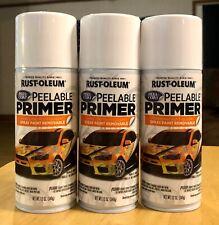 3x Cans Rust-Oleum Peel Coat Peelable Primer Spray Paint 12oz New Rustoleum