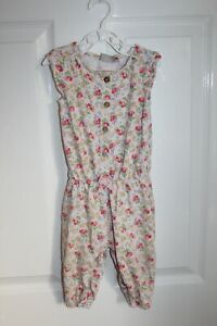 Next Girls Baby Girl Pink Floral Sleeveless Jumpsuit Age 6-9 months CLEARANCE