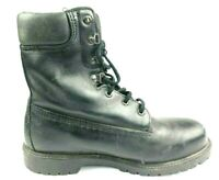 Rocky Class 75 Safety Zone Black Leather Steel Toe Work Boots Mens US Size 8.5MW
