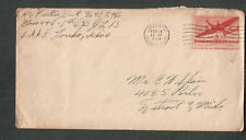 Feb 1944 WWII cover A/C Don Prentiss 1st GSS Army Air Force Field Laredo TX