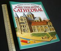 1987 Vintage Usborne Cut-Out Model Book Medieval Cathedral 00/H0 Scale. Unused.