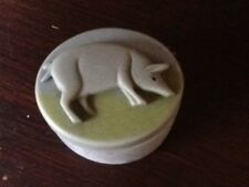 PIG DECOR OVAL PILL  BOX .