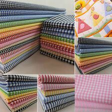 "100% cotton 1/16"" 1/8"" gingham check stripes fabric yarn dyed by the metre"