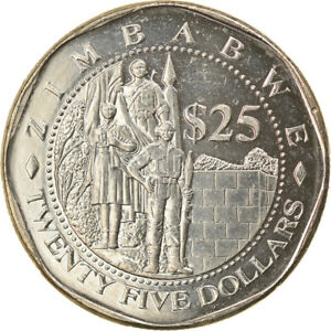 [#744841] Coin, Zimbabwe, 25 Dollars, 2003, Harare, EF(40-45), Nickel plated