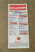 Aspen Airways - System Timetable (card) - Feb 1, 1981