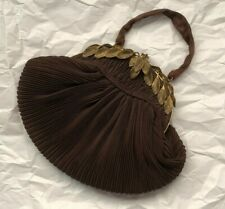 CLASSY BROWN  TAFFETA EVENING BAG