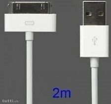 Genuine CE for Apple iPad 3 2 iPhone 4 4S 3GS USB Data Sync Charger Cable 2meter