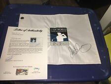 Rory McIlroy 2015 Winner Signed Dubai DP World Tour Championship  Flag PSA DNA