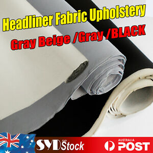Beige /Black/Gray Vehicle Ride Headliner Replacement Fabric Materials Foam Back