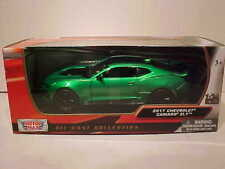 2017 Chevrolet Camaro ZL1 Die-cast Car 1/24 Motormax 7.75 inches Metallic Green