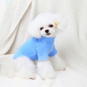 Cute Cartoon Dog Sweater Shirt Clothes Warm Fleece Puppy Cat Pajamas Coat Outfit