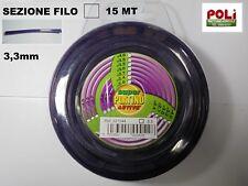 FILO QUADRATO QUADRO PER DECESPUGLIATORE ACTIVE PLATINO 3,3 MM x 15 MT PROF.