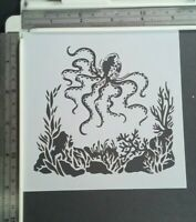 Under the Sea Octopus Seaweed Stencil Scrapbooking Card Making Airbrush Painting