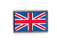 UNION JACK FLAG Hook and Loop Patch Embroidered Badge UK England PT564