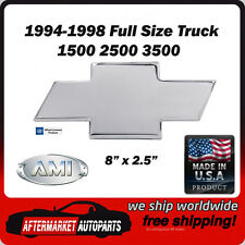 94-98 Chevy Full Size Truck Polished Aluminum Bowtie Grille Emblem AMI 96017P