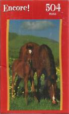 encore 504 piece puzzle horses in pasture new
