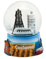 Schneekugel Cuxhaven Kugelbake Feuerschiff,Snowglobe Germany Souvenir