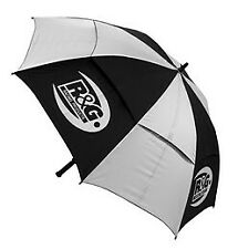 R&G Silver and Black Umbrella with R&G logo