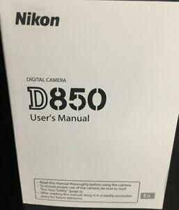 Nikon D850 DSLR Camera User's Manual