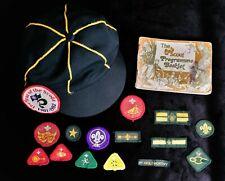 More details for vintage cub scout nostalgia - cap, badges / patches, booklet - 1970/80s