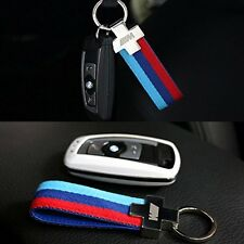 M Color Sports Power Performance Alloy Leather Key Ring Key Fob Chain For BMW 94