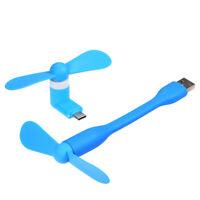 Mini USB Fan + Type-C Phone Fan Portable Cooling Fan Flexible Cooler for X1U3