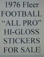 "1976 Fleer NEW ""ALL PRO"" Hi-Gloss Patches sticker $9.99 EA Many teams SCARCE!!!"