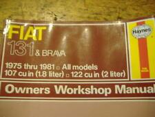 Fiat 131 & Brava 1975 thru 1981 owners workshop manual
