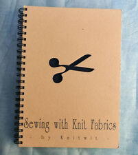 KNITWIT Sewing with Knit Fabrics 1993 vintage book sew knitted fabric fast easy