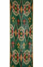 UZBEK HAND CRAFTED WOVEN SILK-COTTON IKAT ADRAS FABRIC