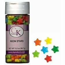 Neon Stars Candy Shapes Sprinkles 3.2 oz from CK #23353 - NEW