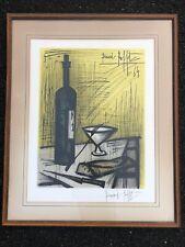 "BERNARD BUFFET Pencil Signed ""Bread & Wine"" OrigInal Large Framed Lithograph MCM"