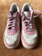 Nike Air Force 1 Pink White Purple EUC Youth Size 4