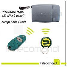Ricevente radio ricevitore 433 Mhz 2 canali compatibile Breda TOP432 e Bfor