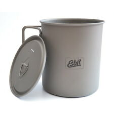 Esbit 750ml Titanium Pot (Ultra-Light Titanium) Weight: 106g