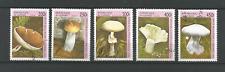 Guinée 5 timbres oblitérés 1996 champignon /4551