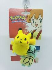 Pokemon Plush Hair Tie Scrunchee vintage anime accessories Pikachu Squirtle noc