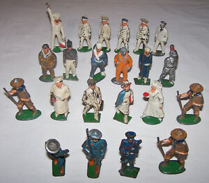 Lot BARCLAY MANOIL WWI WWII Lead SOLDIER Nurse Chef Boy Scout Pilot Knight