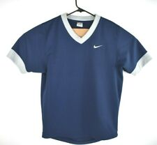 Nike Men's Pullover Jersey Shirt Polyester Navy Blue Arm Band V Neck Size M