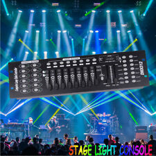 More details for stage lighting console controller 192ch dmx512 dj disco party light uk plug