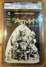 Batman #14 1:100 CGC 9.6 Greg Capullo Sketch Variant New 52